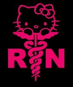 Hello Kitty Nurse RN Decal sticker