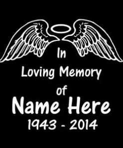 in loving memory wings and halo
