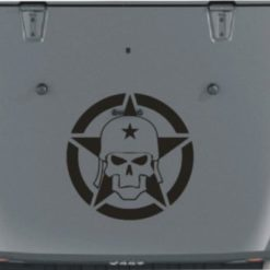 Jeep Hood Decal Army Skull Star