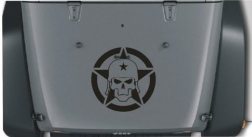 Jeep Hood Decal Army Skull Star