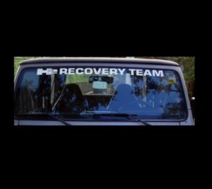Jeep H2 Recovery Team Windshield Decals
