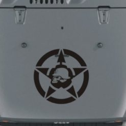 Jeep Hood Decal Metal Mulisha Star
