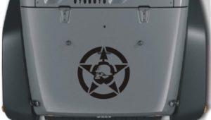Jeep Hood Decal Metal Mulisha Star