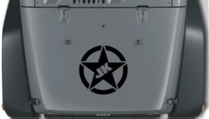 Jeep Hood Decal JK Star