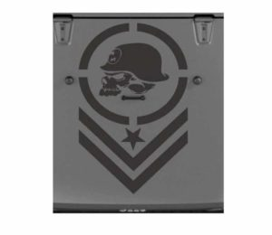 jeep metal mulisha bars hood decal sticker