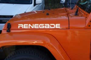 Jeep Renegade Hood Decal Set