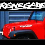 Jeep Renegade Hood Set of 2 Jeep Decal Stickers A2