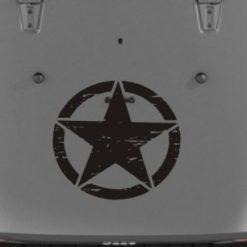 Jeep Hood Decal Weathered Star