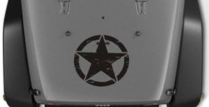 Jeep Hood Decal Weathered Star