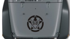 Jeep Hood Decal Decepticon Star