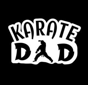 Karate Dad Window Decal