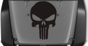 Jeep Hood Decal Punisher