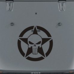 Jeep Hood Decal Punisher Star