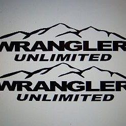 Jeep Wrangler Unlimited Hood Decal Set