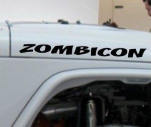 Jeep Zombicon Hood Decal Set