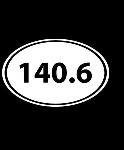 Ironman Oval 140.6 Decal Sticker