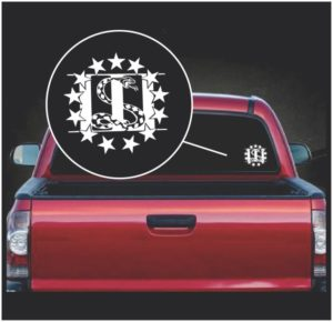 3 percenter pecent serpent window decal sticker