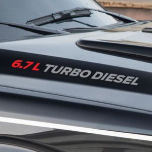 6.7 TURBO DIESEL Hood Decals set of 2