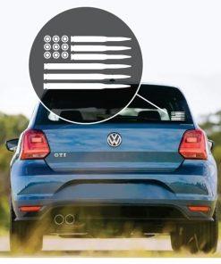 American Flag Bullets Window Decal Sticker