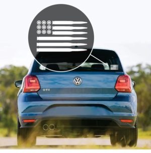 American Flag Bullets Window Decal Sticker