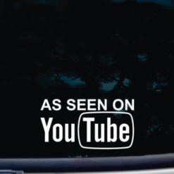 As seen on you tube Decal Sticker