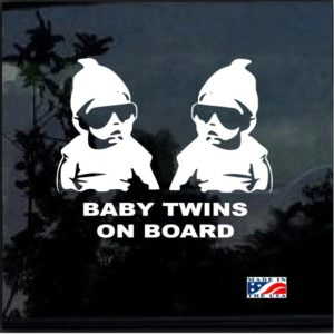 Baby on Board twins hangover carlos decal sticker