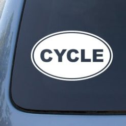 Cycle Euro Oval Decal Sticker