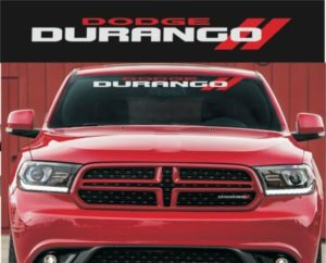 Dodge Durango Windshield banner decal sticker