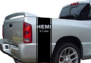 Dodge Hemi 5.7 4x4 Bedside Graphic Set