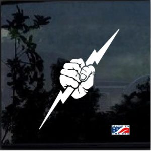 Electrician Lightning Bolt Fist Decal Sticker