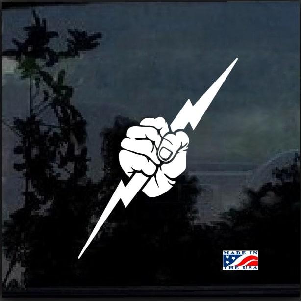Electrician American Flag Vinyl Decal StickerElectrician Truck Decals