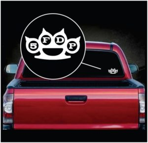 Five Finger Death Punch 5FDP - Car Window Decal Sticker