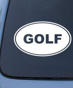 Golf Euro Oval Decal Sticker