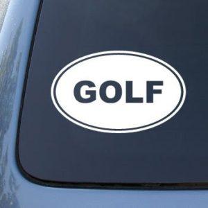 Golf Euro Oval Decal Sticker