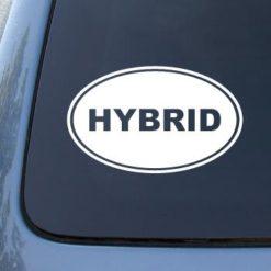 Hybrid Euro Oval Decal Sticker