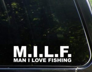 MILF man I love Fishing Funny Decal Sticker