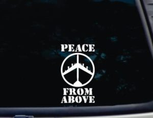 Peace From Above decal sticker