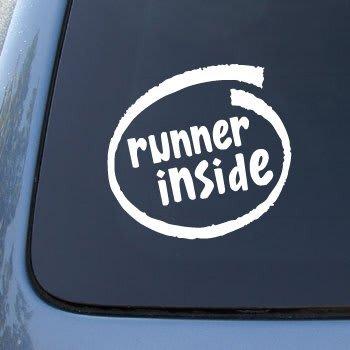 Runner inside decal sticker