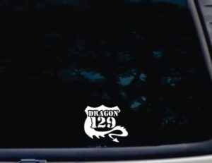 Tail of the Dragon RTE 129 decal sticker