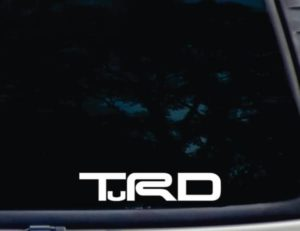 Toyota TRD TuRD decal sticker