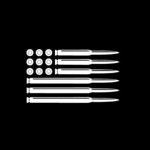 American Flag Bullets Decal Sticker