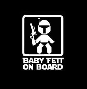 Baby Fett On Board Star Wars Decal Sticker