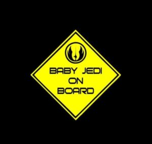 Baby Jedi On Board Decal Sticker a2