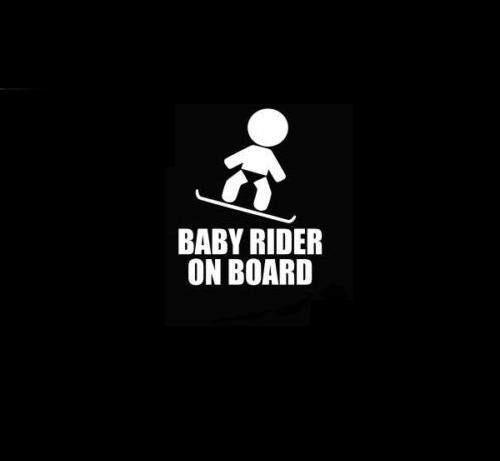 Baby Snowboard rider On Board Decal Sticker