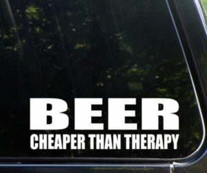 Beer Cheaper than therapy Decal Sticker