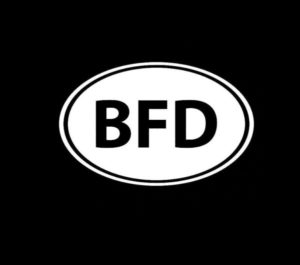 BFD Big Fucking Deal Funny Decal Sticker