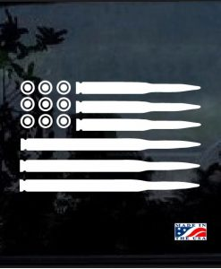 bullets american flag decal sticker