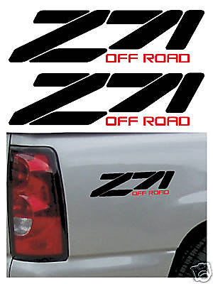 Chevy Z-71 Off Road bedside decal set