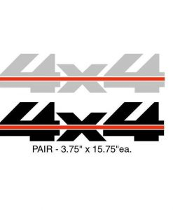 Chevy 4x4 Off Road bedside decal set