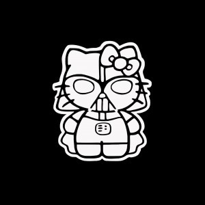 Hello kitty darth vader car decal stickers custom - Dark vador hello kitty ...